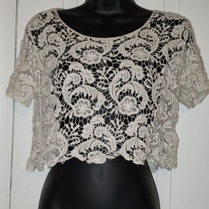 Vintage Bongo Lace Crop Top